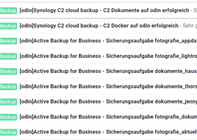 Email Benachrichtigung
