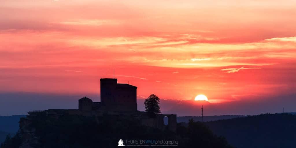 Slevogtfels - Sonnenuntergang