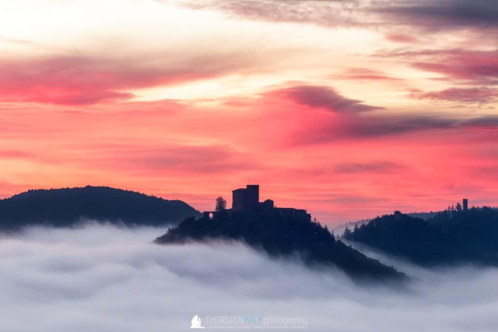 Sommerfels - Trifels im Nebel