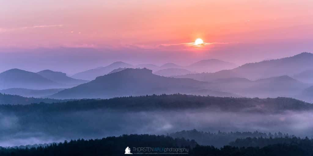 Sonnenaufgang Heidenpfeiler