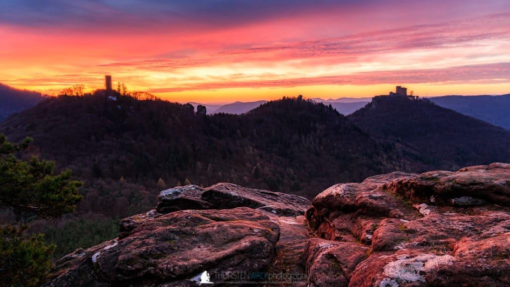 Sonnenuntergang Slevogtfels