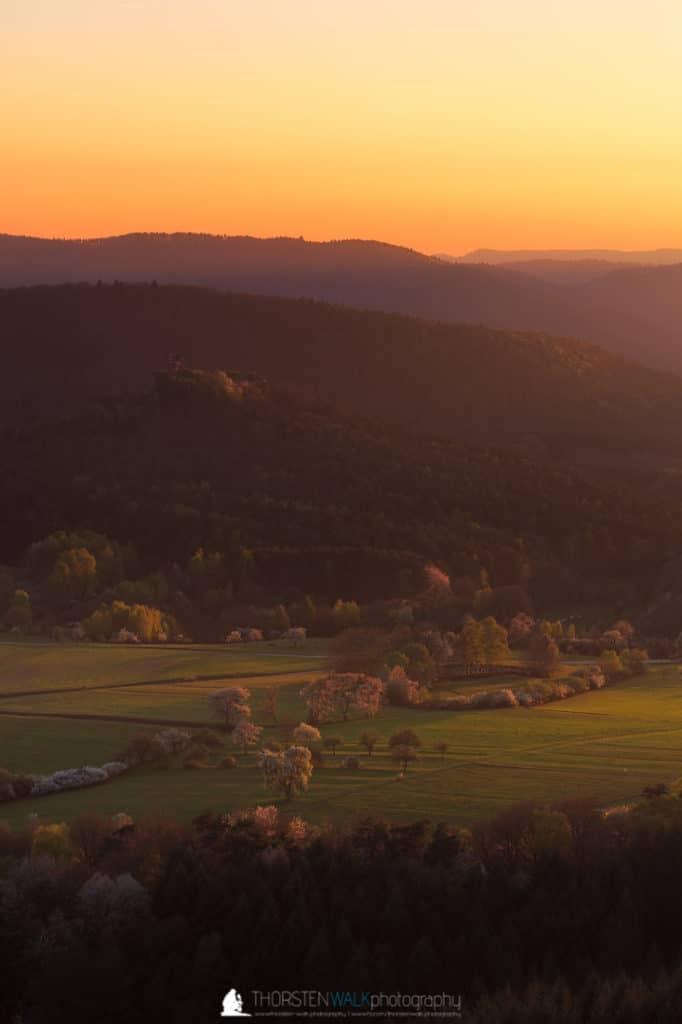 Sonnenuntergang Drachenfels