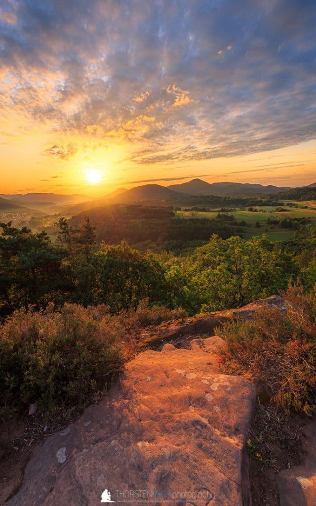 Sonnenaufgang Geiersteine